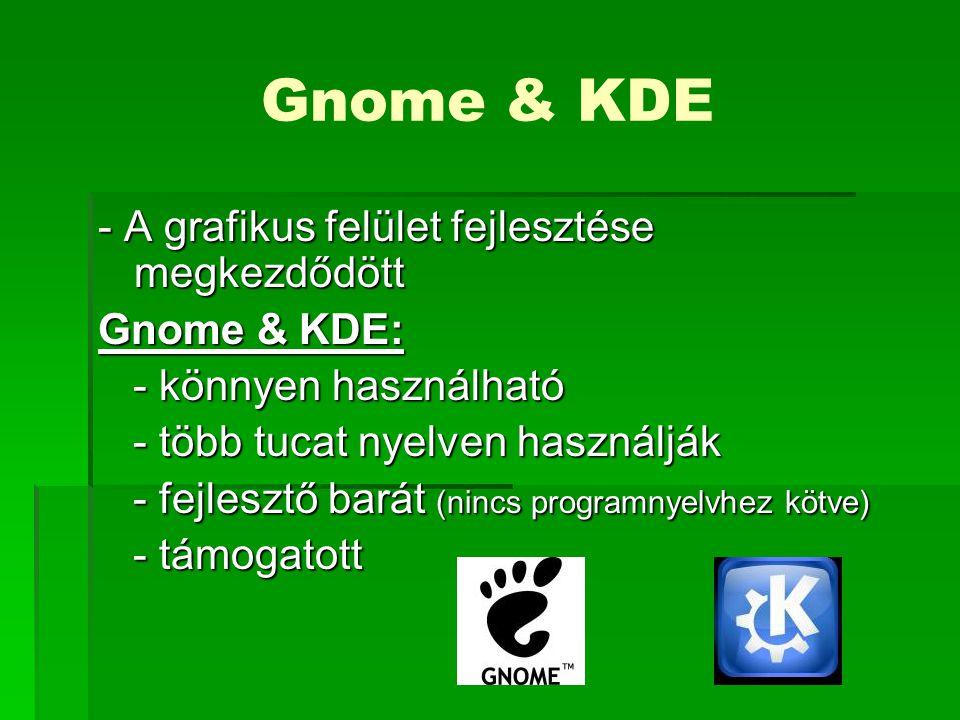 Gnome & KDE - A grafikus felület fejlesztése megkezdődött Gnome & KDE:
