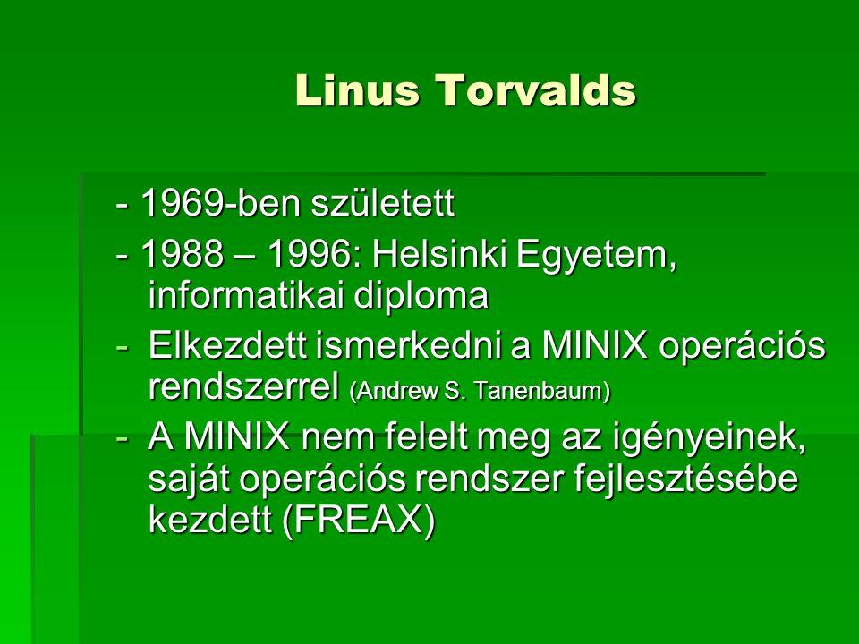 Linus Torvalds - 1969-ben született