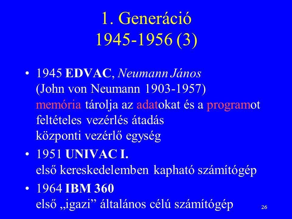 1. Generáció 1945-1956 (3)
