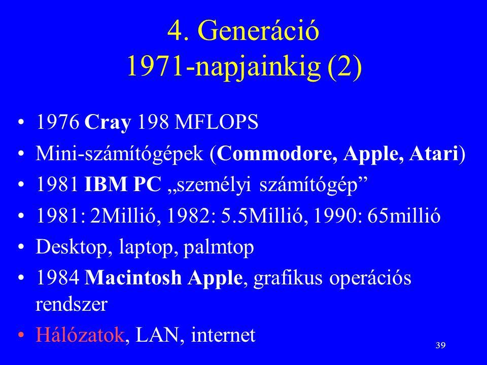 4. Generáció 1971-napjainkig (2)