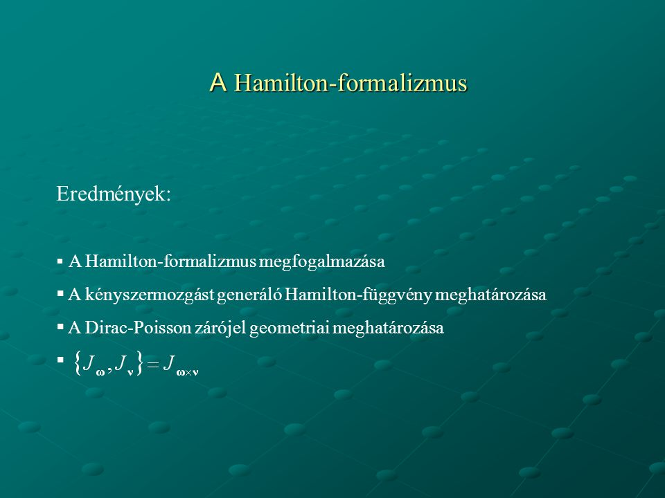 A Hamilton-formalizmus