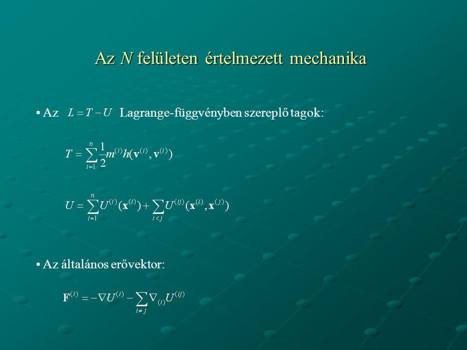 Az N felületen értelmezett mechanika