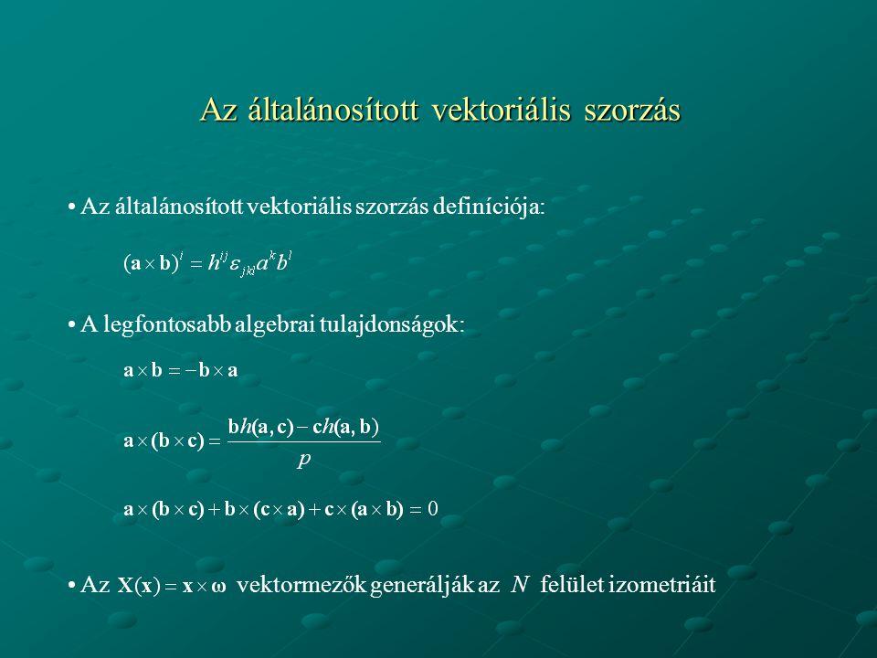 Az általánosított vektoriális szorzás