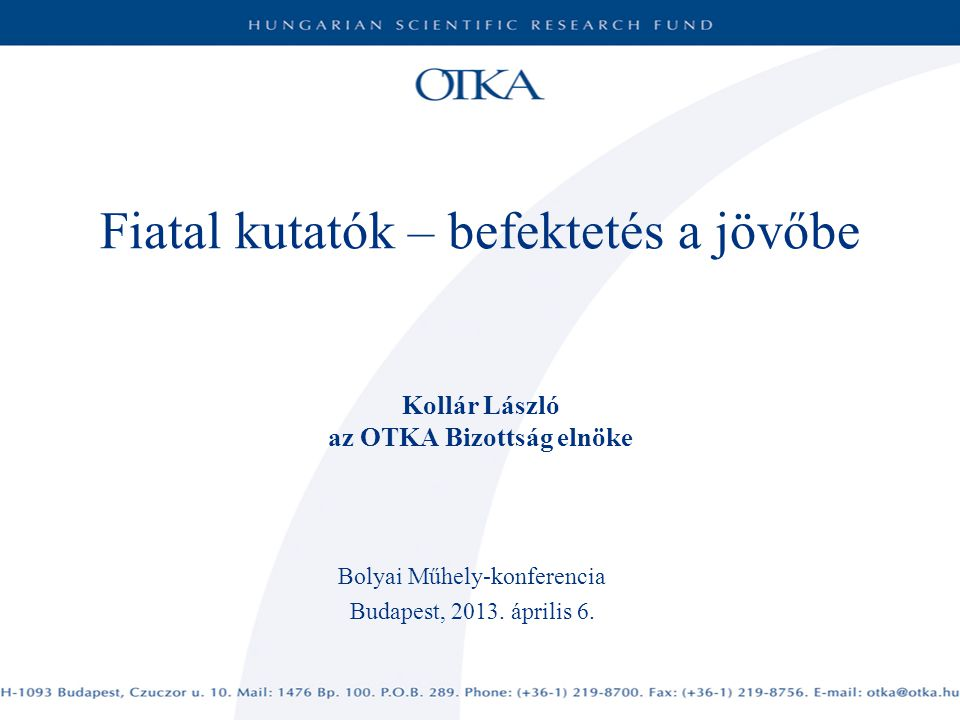 Bolyai Műhely-konferencia