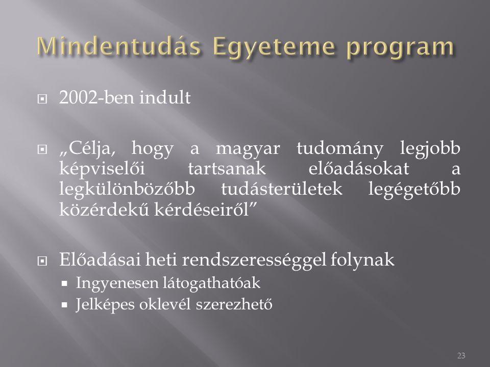 Mindentudás Egyeteme program