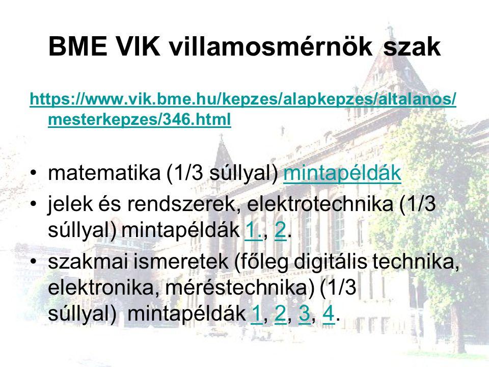 BME VIK villamosmérnök szak