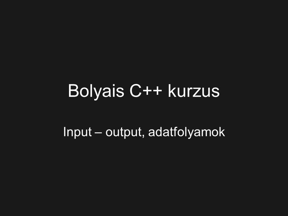 Input – output, adatfolyamok