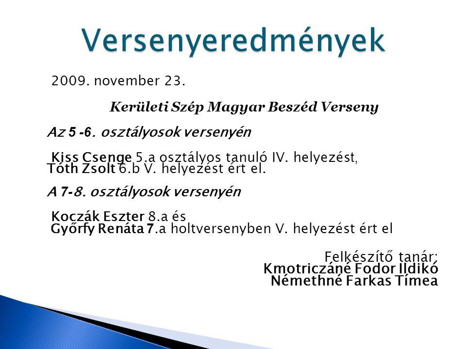 Kerületi Szép Magyar Beszéd Verseny