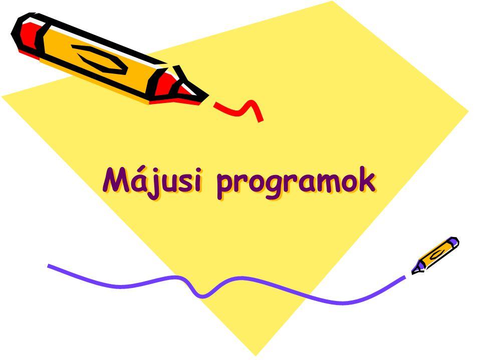 Májusi programok