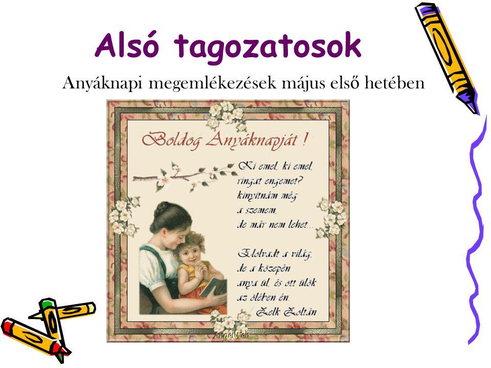 Anyáknapi megemlékezések május első hetében