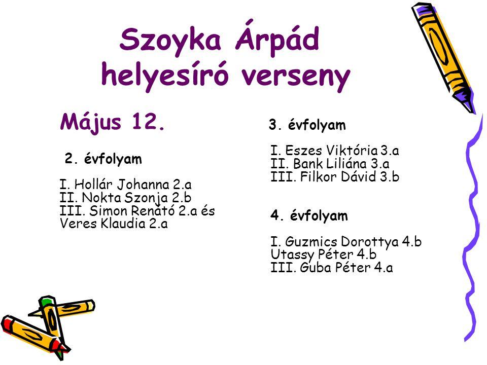Szoyka Árpád helyesíró verseny
