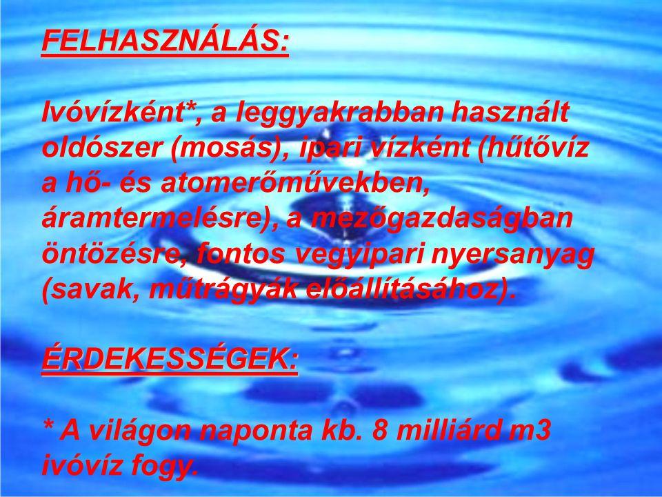 FELHASZNÁLÁS:
