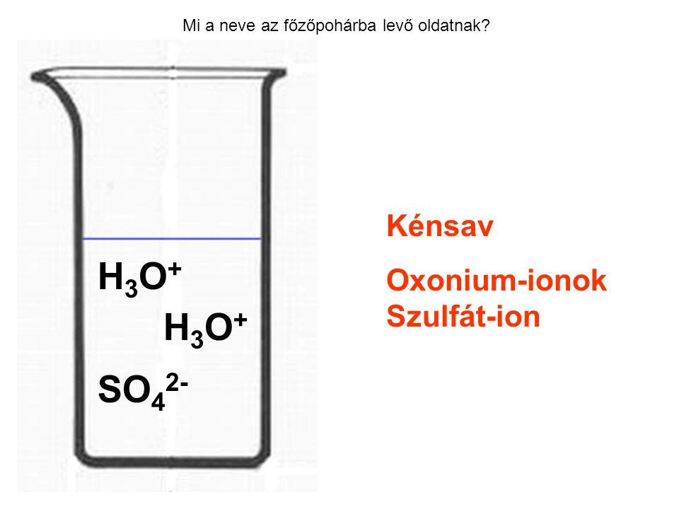 H3O+ H3O+ SO42- Kénsav Oxonium-ionok Szulfát-ion