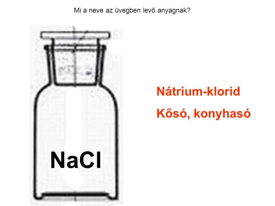 HCl NaCl Nátrium-klorid Kősó, konyhasó
