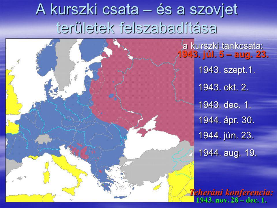 A kurszki csata – és a szovjet területek felszabadítása