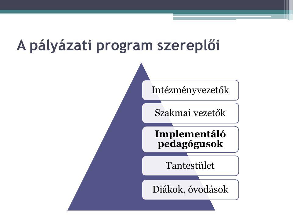 A pályázati program szereplői
