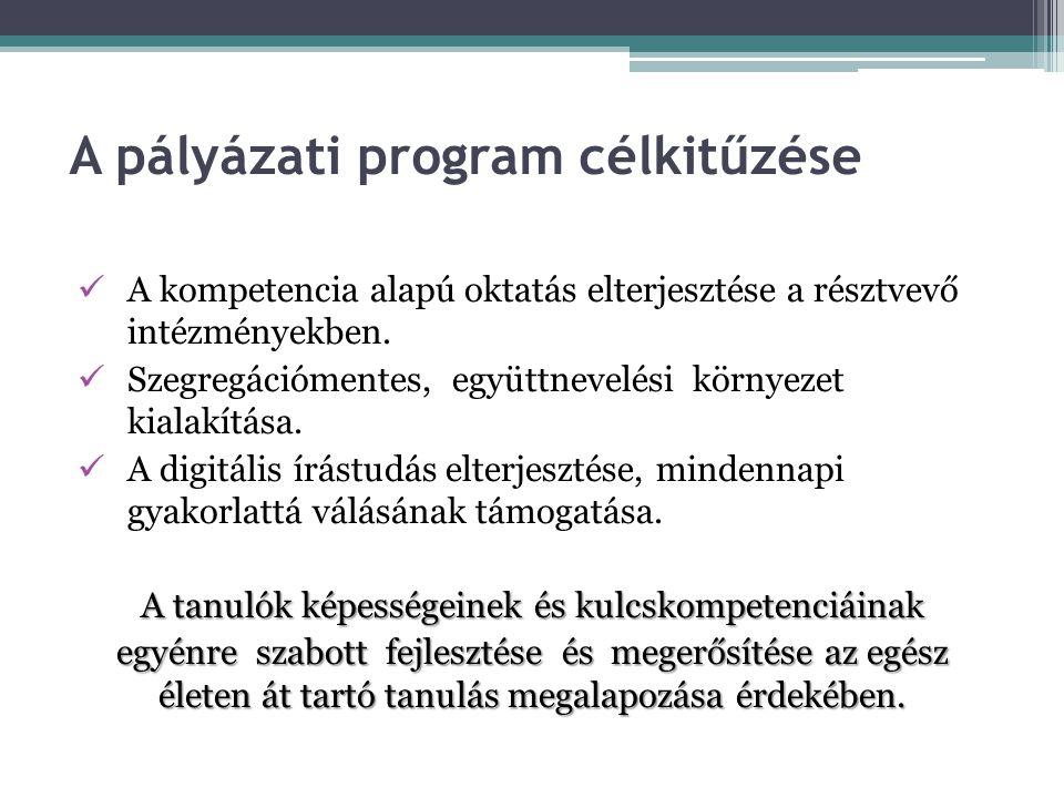 A pályázati program célkitűzése