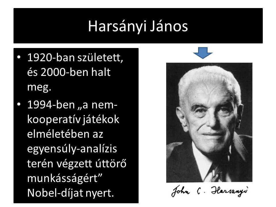 Harsányi János 1920-ban született, és 2000-ben halt meg.