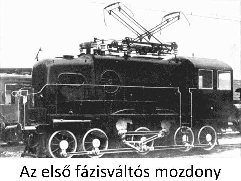 Az első fázisváltós mozdony