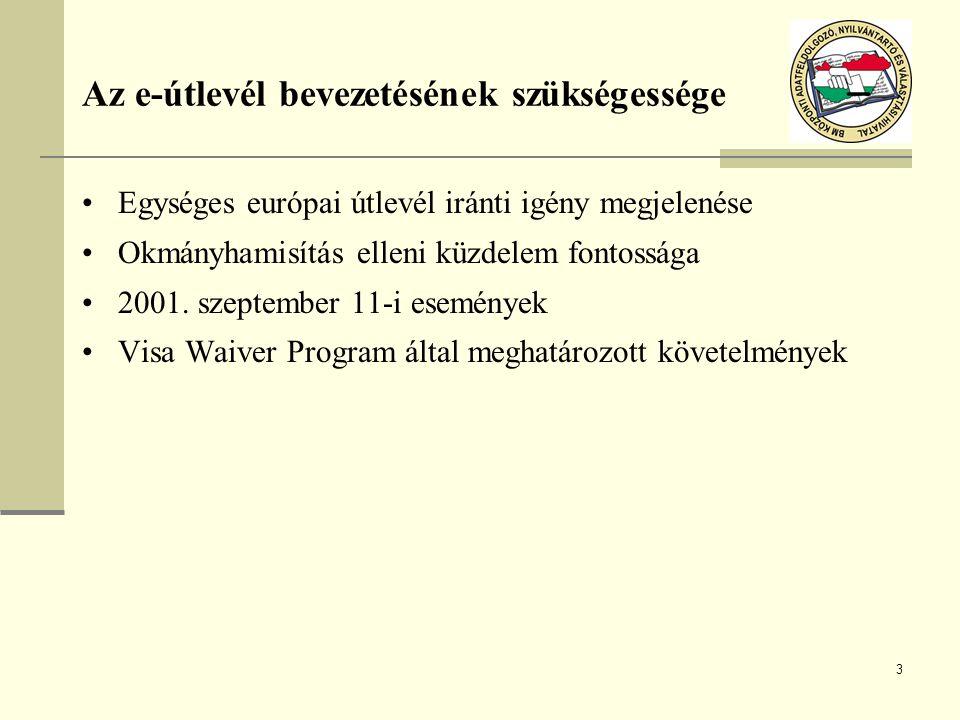Az e-útlevél bevezetésének szükségessége