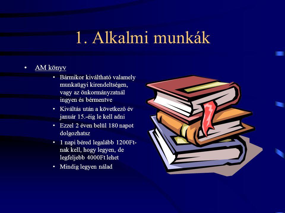 1. Alkalmi munkák AM könyv
