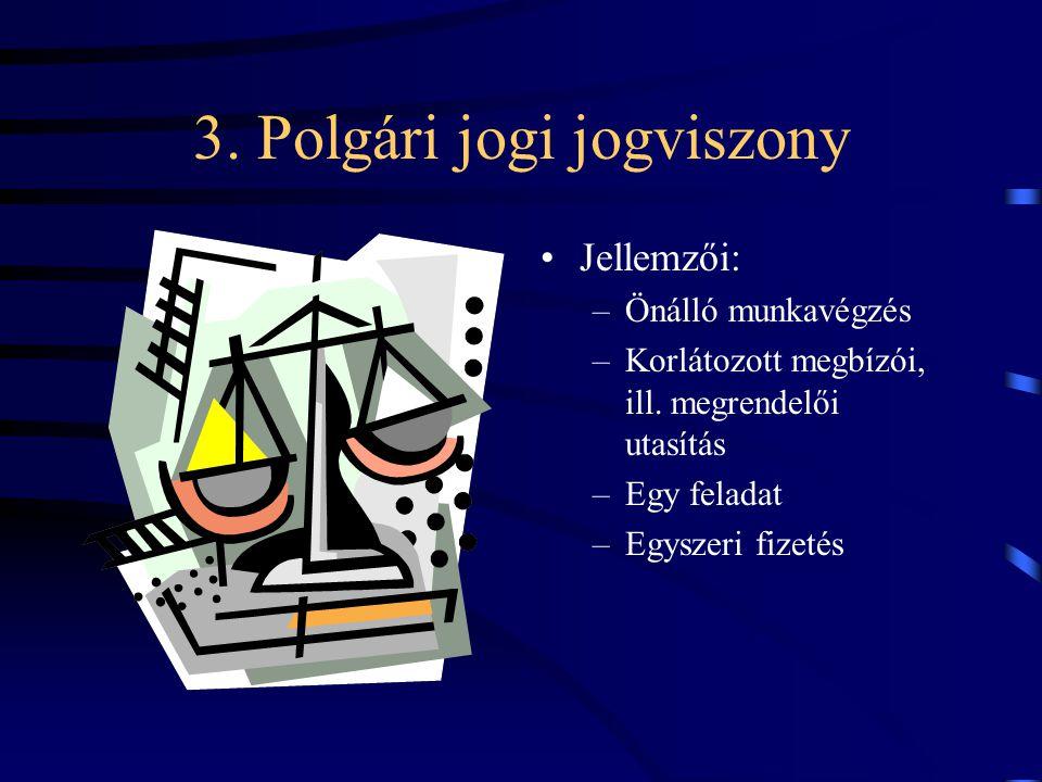 3. Polgári jogi jogviszony