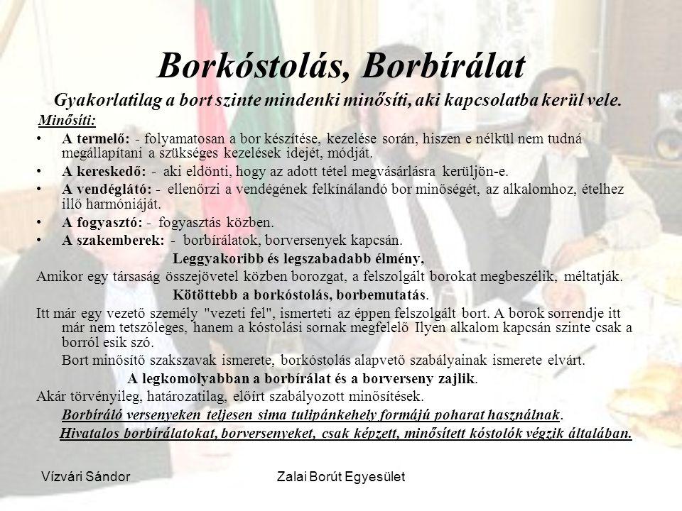Borkóstolás, Borbírálat