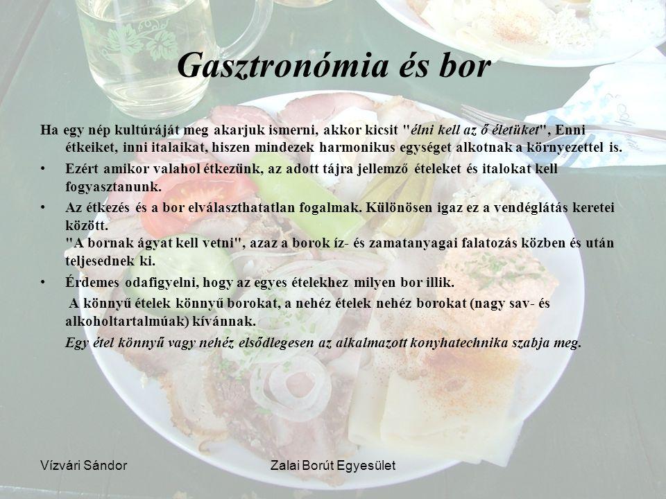 Gasztronómia és bor