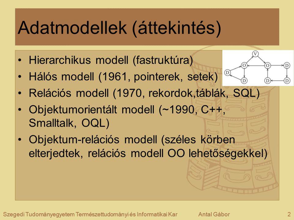 Adatmodellek (áttekintés)
