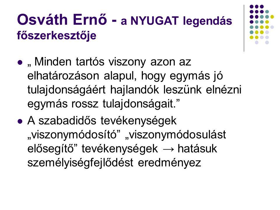 Osváth Ernő - a NYUGAT legendás főszerkesztője