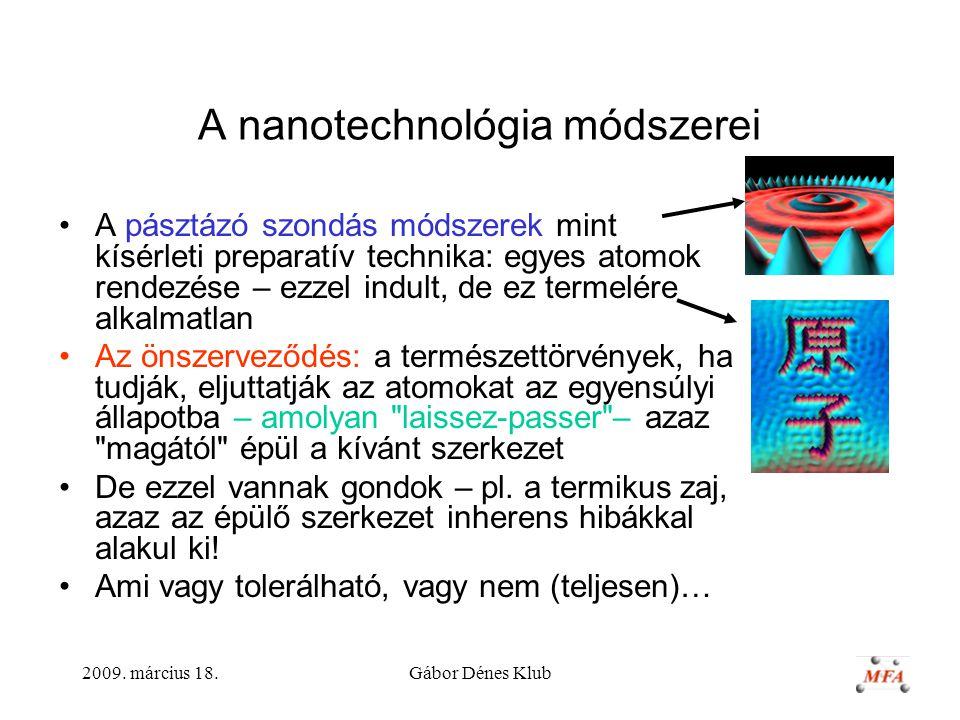 A nanotechnológia módszerei