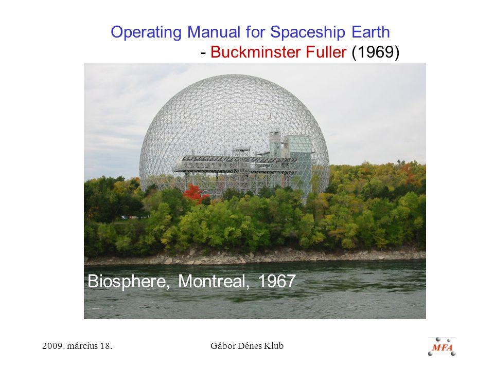 Operating Manual for Spaceship Earth - Buckminster Fuller (1969)