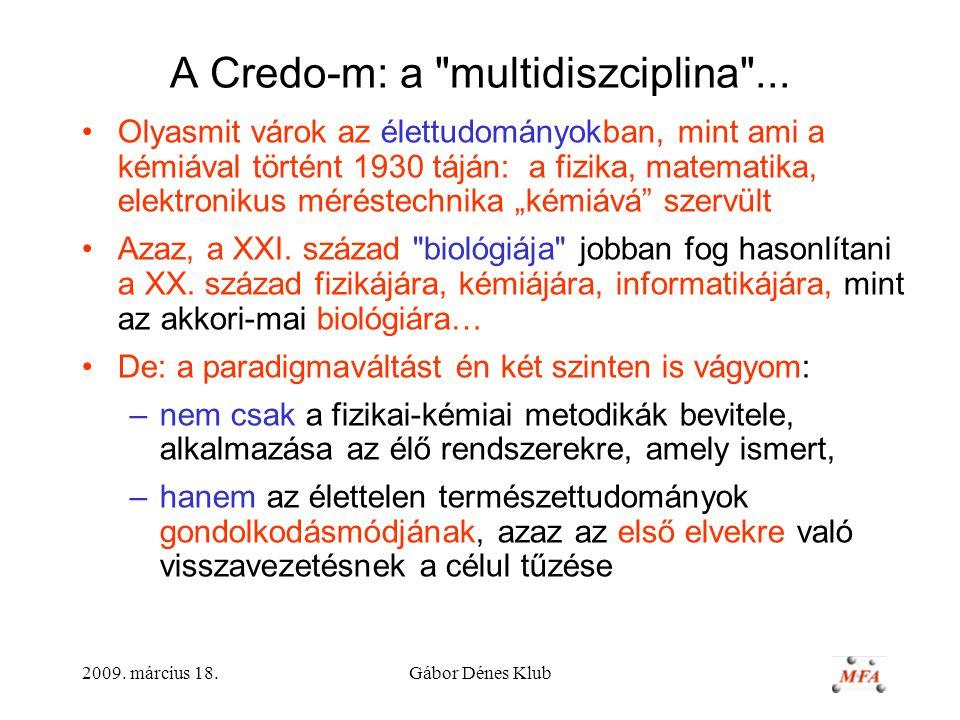 A Credo-m: a multidiszciplina ...