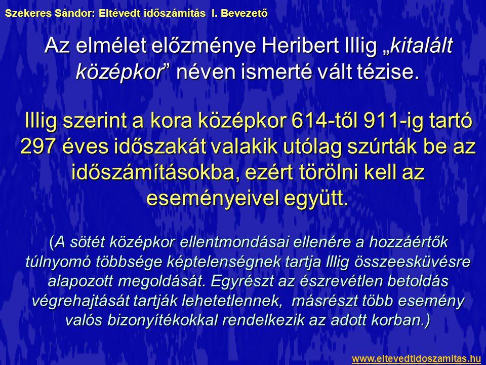 Szekeres Sándor: Eltévedt időszámítás I. Bevezető