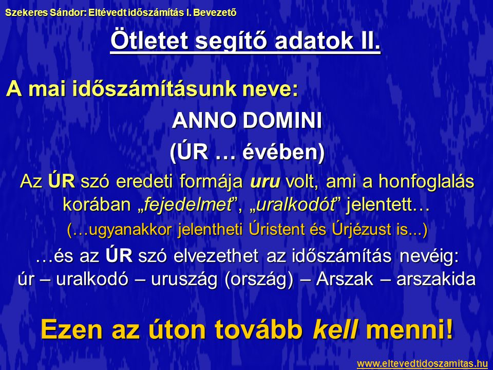 Ötletet segítő adatok II.