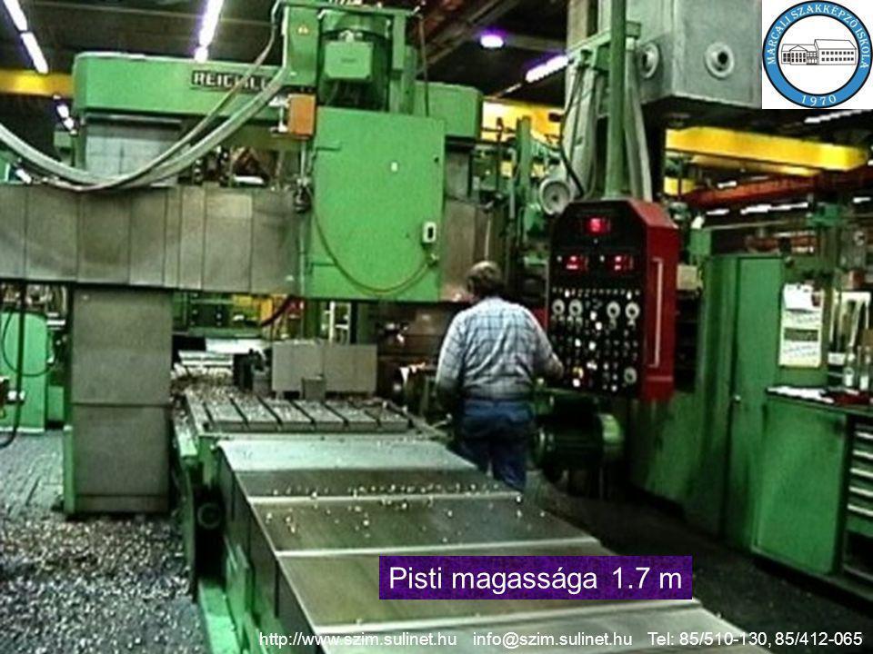 Pisti magassága 1.7 m http://www.szim.sulinet.hu info@szim.sulinet.hu Tel: 85/510-130, 85/412-065.