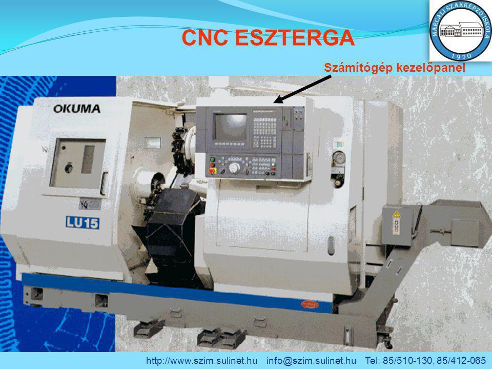 CNC ESZTERGA Számítógép kezelőpanel