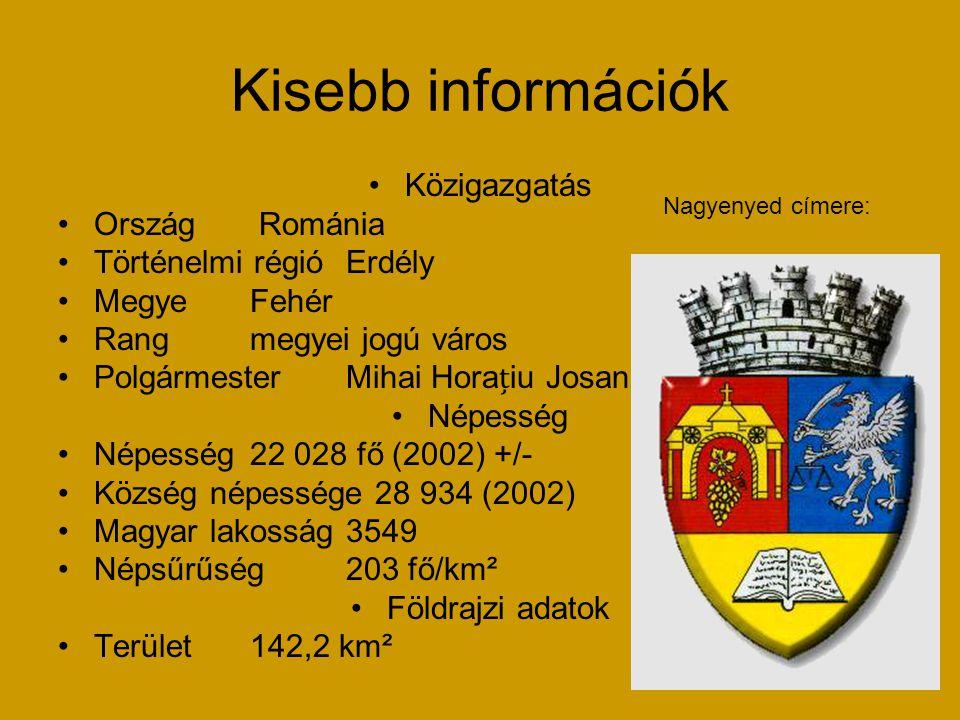 Kisebb információk Közigazgatás Ország Románia Történelmi régió Erdély