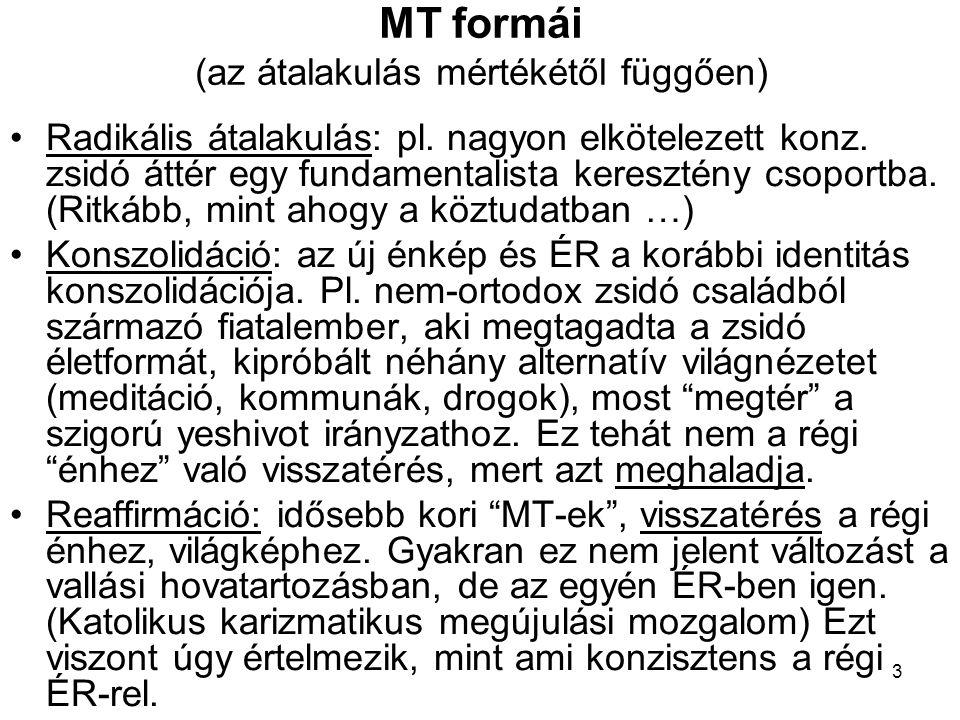 MT formái (az átalakulás mértékétől függően)