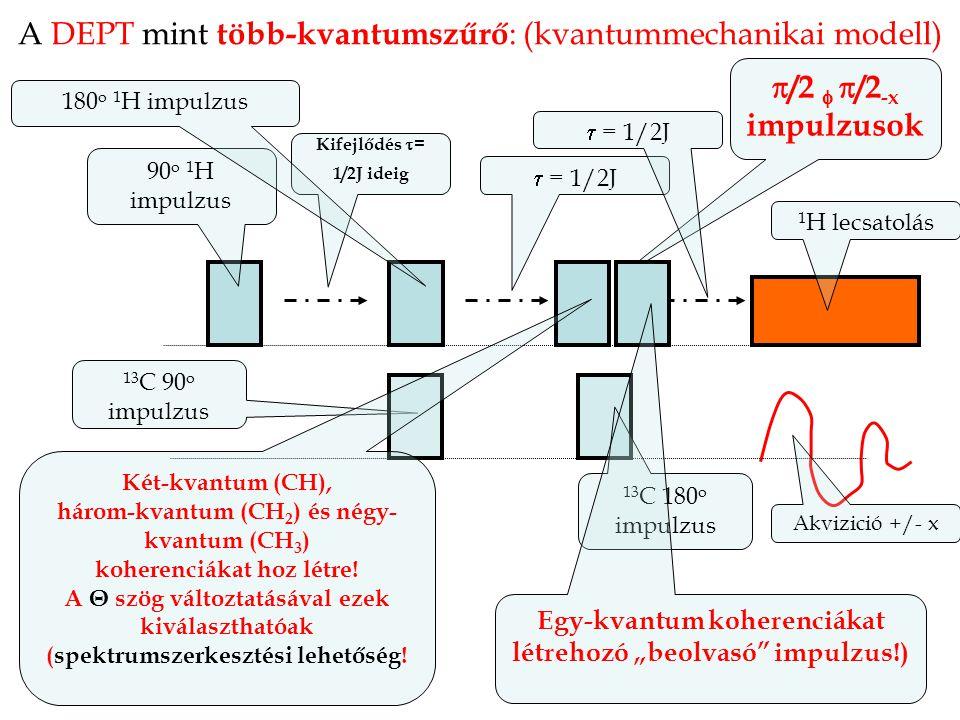 A DEPT mint több-kvantumszűrő: (kvantummechanikai modell)