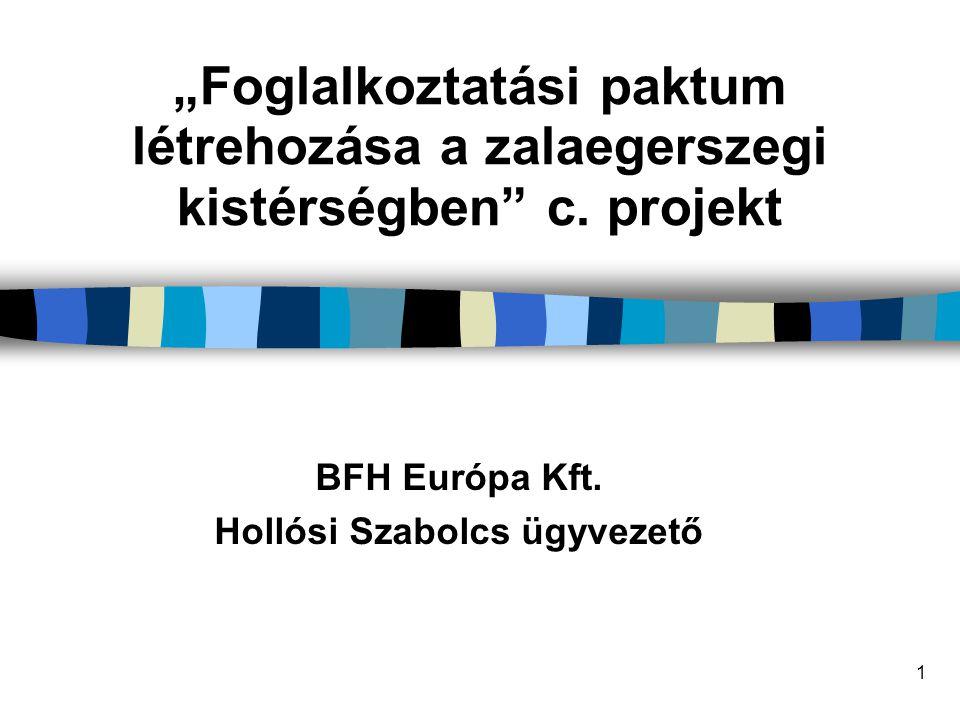 BFH Európa Kft. Hollósi Szabolcs ügyvezető
