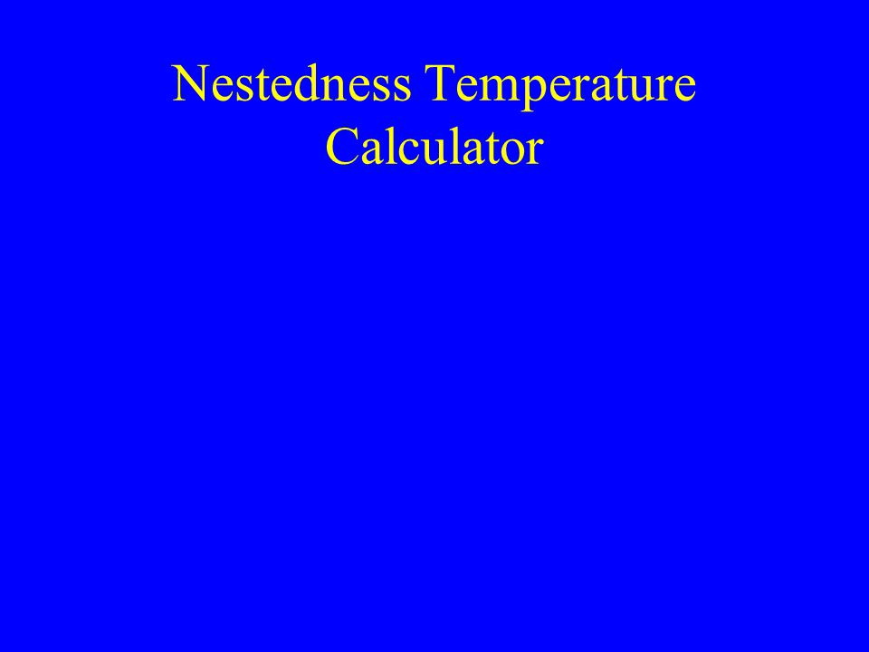 Nestedness Temperature Calculator