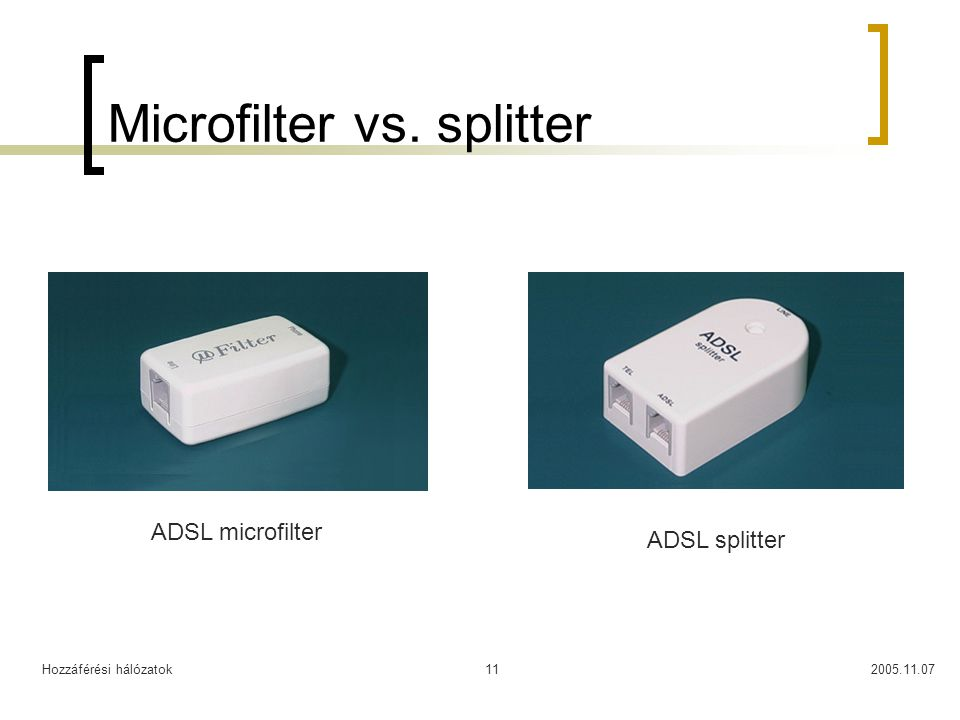 Microfilter vs. splitter