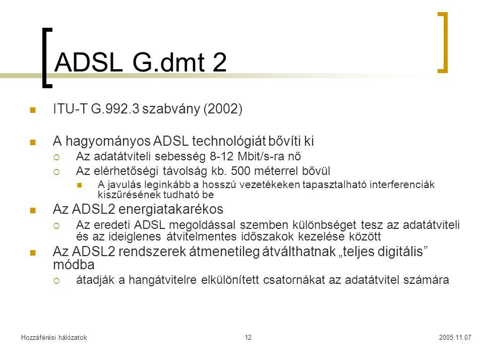 ADSL G.dmt 2 ITU-T G.992.3 szabvány (2002)