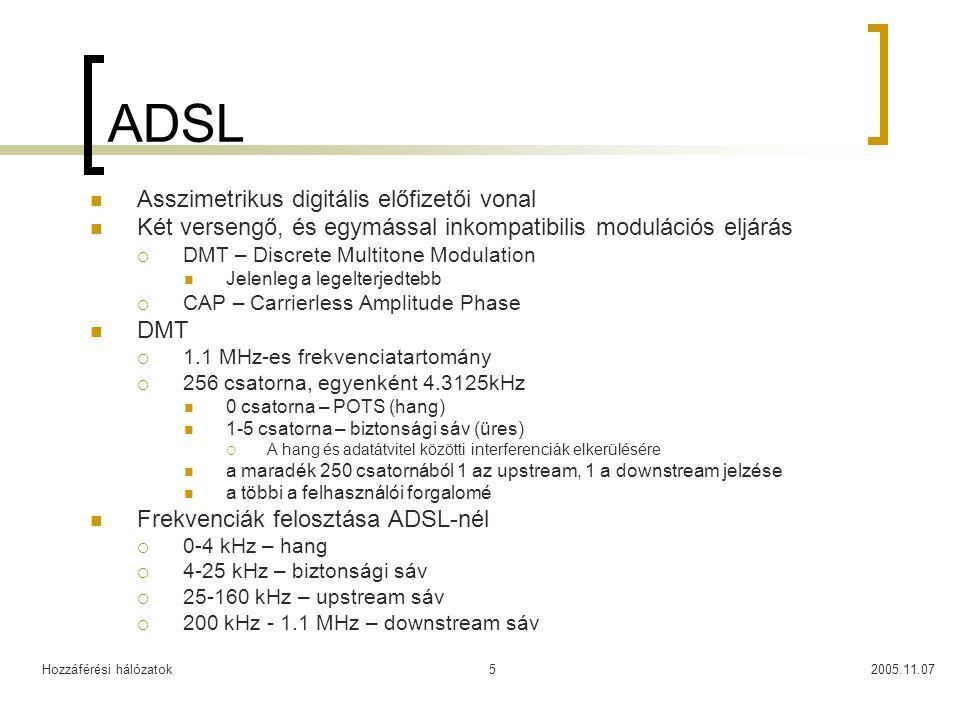 ADSL Asszimetrikus digitális előfizetői vonal