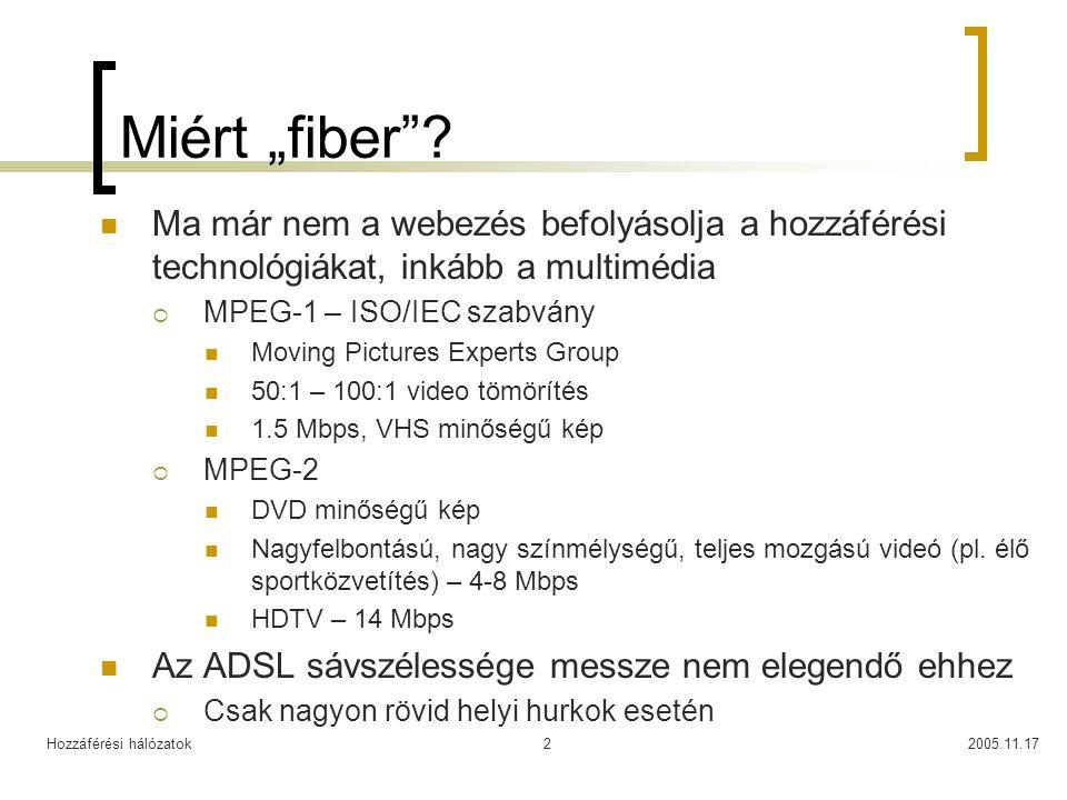 """Miért """"fiber Ma már nem a webezés befolyásolja a hozzáférési technológiákat, inkább a multimédia."""