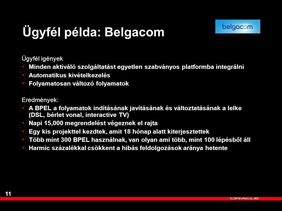 Ügyfél példa: Belgacom