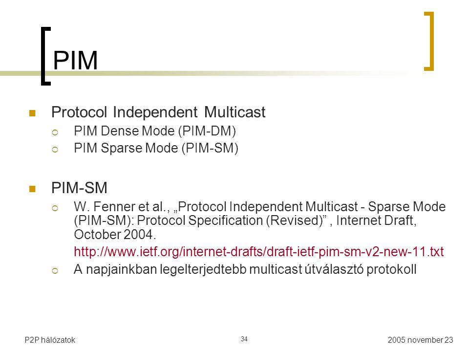 PIM Protocol Independent Multicast PIM-SM PIM Dense Mode (PIM-DM)
