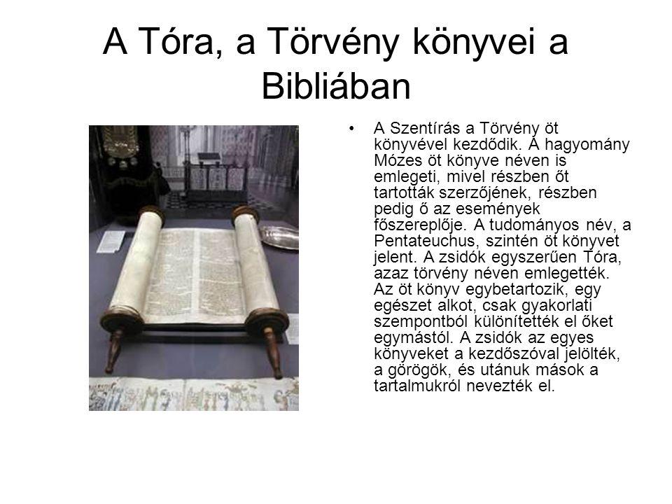 A Tóra, a Törvény könyvei a Bibliában