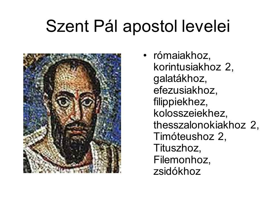 Szent Pál apostol levelei